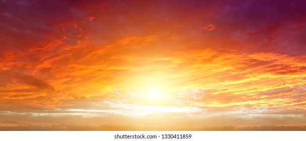 Sunlight in warm summer sky