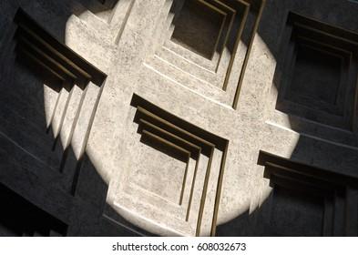 Sunlit church wall