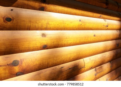 Sunlit Wood Panels