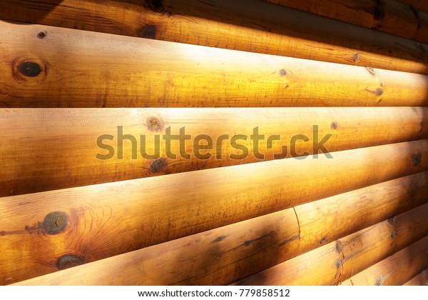 Sunlit Wood Panels