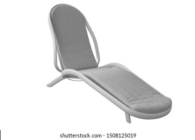sunlounger with cushion. furniture on a white background