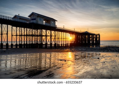 Sunning sunrise at Penarth Pier at Cardiff on the south coast of Wales