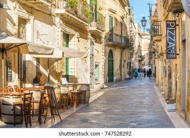 A sunny afternoon in Lecce, Puglia (Apulia), southern Italy. October-15-2017