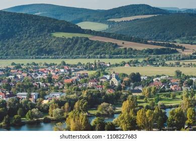 Sunny autumn day in Trencin, Slovakia