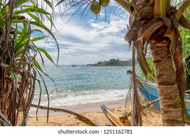 Sunny bays in the Indian Ocean - Sri Lanka the paradise For the Viewer: Translation: This are names of beaches and cities of sri lanka