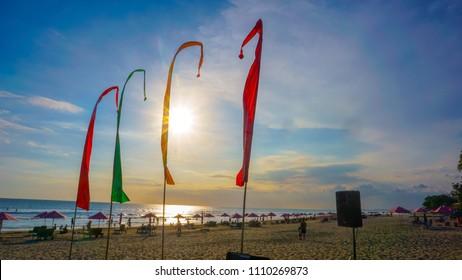 Sunny Beach in Bali Indonesia