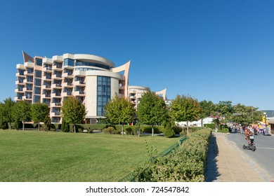 SUNNY BEACH, BULGARIA - September 8, 2017:Popular summer resort near Burgas, Bulgaria  - view of  Hotel Festa M