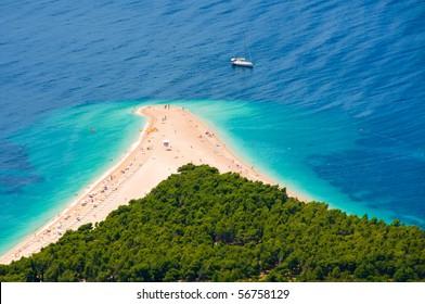 sunny beach in Croatia
