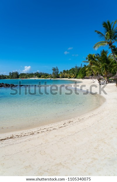 Sunny Beach Grand Baie Mauritius Island Stock Photo (Edit