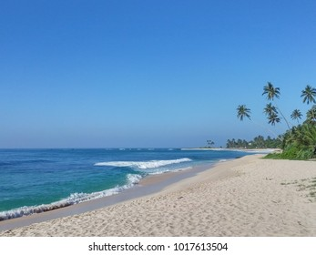 sunny beach at the Indian ocean, Sri Lanka