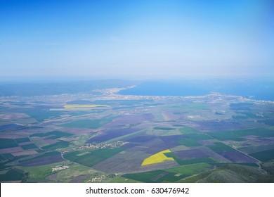 Sunny Beach resort aerial panorama 2