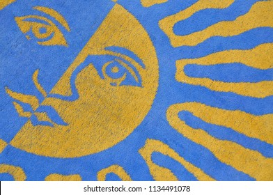 Sunny Beach Towel Background Pattern