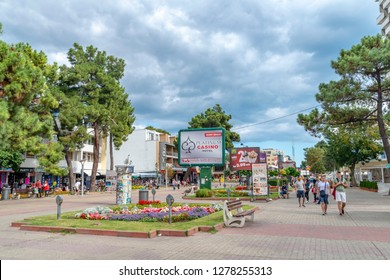 Sunny Beach village/Bulgaria - 09.11.2018:The Sunny Beach village by the Black Sea. Popular place during the summer.
