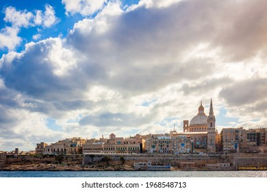 sunny city skyline in malta valletta  - Shutterstock ID 1968548713