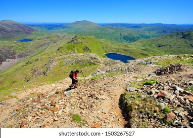 Sunny clear day on the highest hill of Wales