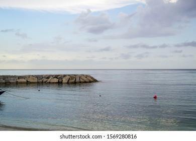 Sunny day along Montego Bay beach