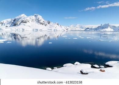 Sunny day in Antartica