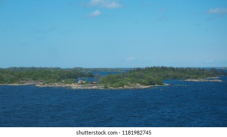 sunny day at the archipelago sea in sweden
