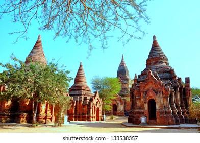 A sunny day in Bagan, Myanmar (Burma)