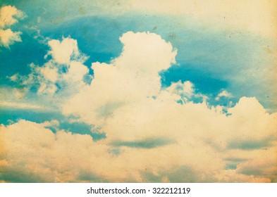 Sunny day. Blue sky.