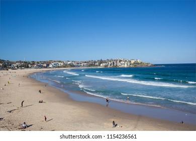 A sunny day at Bondi Beach, Sydney, Australia