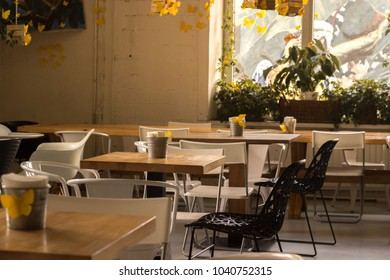 Sunny day in a cafe