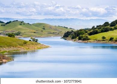 Sunny day at Calero reservoir, Calero county park, Santa Clara county, south San Francisco bay area, California
