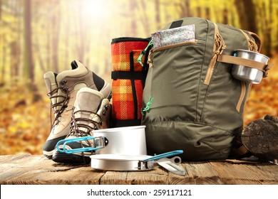 Camping Equipment Images Stock Photos Vectors Shutterstock