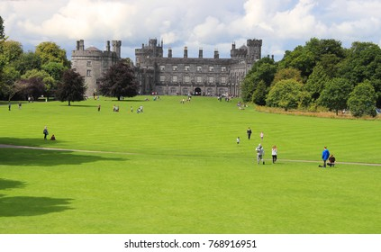 Sunny day in the gardens of Kilkenny Castle - Kilkenny, Ireland - August 08 2017