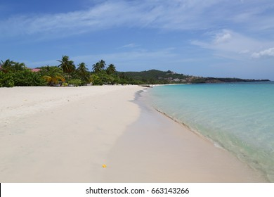 Sunny day at Grand Anse Beach in Grenada.