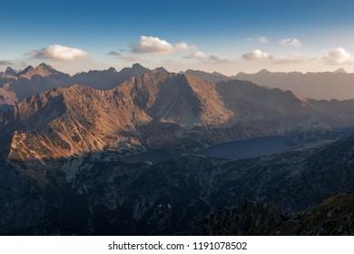 Sunny day high in Tatra Mountains (Tatry), Zakopane, Poland