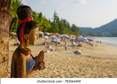 Sunny day at Kamala beach on Phuket Thailand