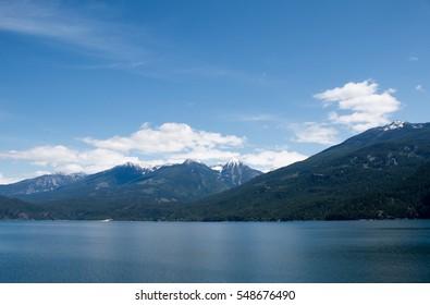 A sunny day at Kootenay Lake in British Columbia, Canada