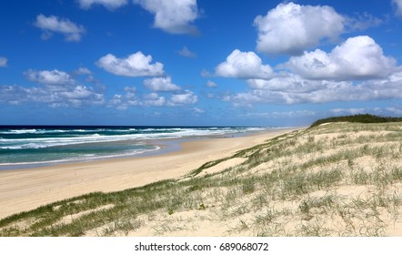 A sunny day at Main Beach on North Stradbroke Island in Queensland Australia