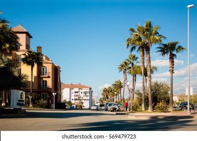 Sunny day in Malaga, Spain