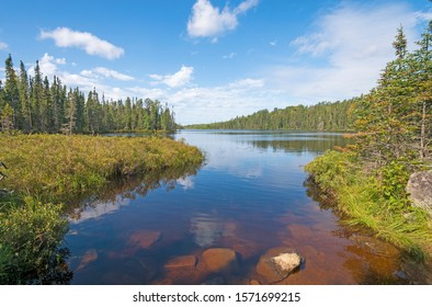 Sunny Day in the North Woods on Muskeg Lake in the Boundary Waters in Minnesota