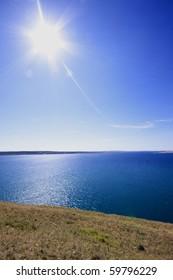 Sunny day on the Adriatic coast