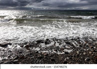 A sunny day on the beach on Mols in Denmark
