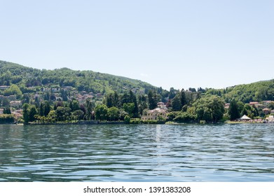 Sunny day on the Lake Maggiore, northern Italy