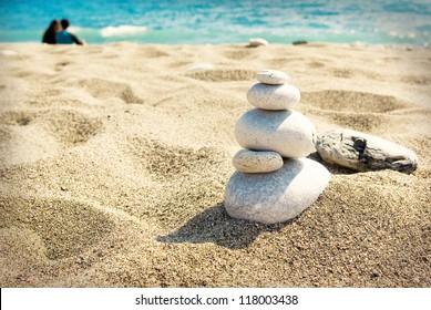 A sunny day on sandy beach