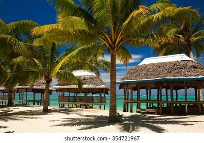 Sunny day on a tropical island