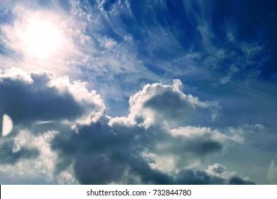 Sunny day, only sky