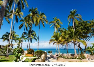 Sunny day at Sayulita Beach, Nayarit, Mexico