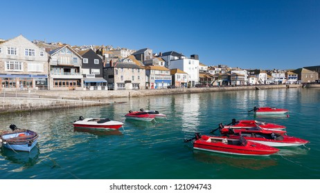 Sunny day at St Ives harbour Cornwall England UK