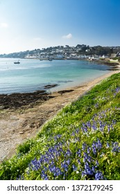 Sunny day at St Mawes beach on the Roseland Peninsula Cornwall England UK Europe