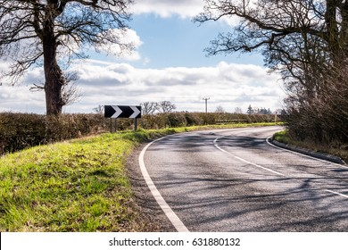Sunny Day View of Empty UK Country Road