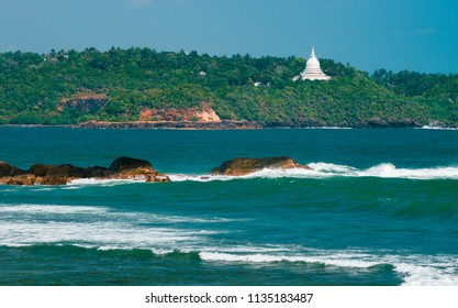 Sunny day view on the Galle lighthouse Sri Lanka