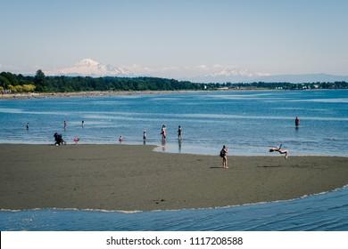 Sunny day in White Rock, British Columbia, Canada