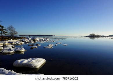Sunny images from Finland captured in spring when ice started to melt in the Baltic Sea