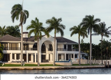 SUNNY ISLES BEACH, FL - JANUARY 1, 2016: Luxury villa in the Sunny Isles Beach, located on a barrier island in northeast Miami-Dade County, Florida.